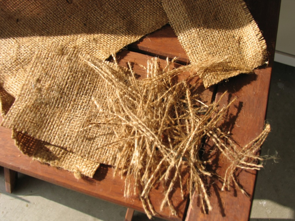 Burlap is used during colder season for added warmth